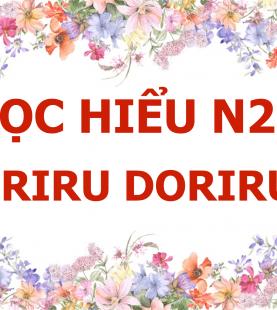 Đọc hiểu N2 – Doriru Doriru